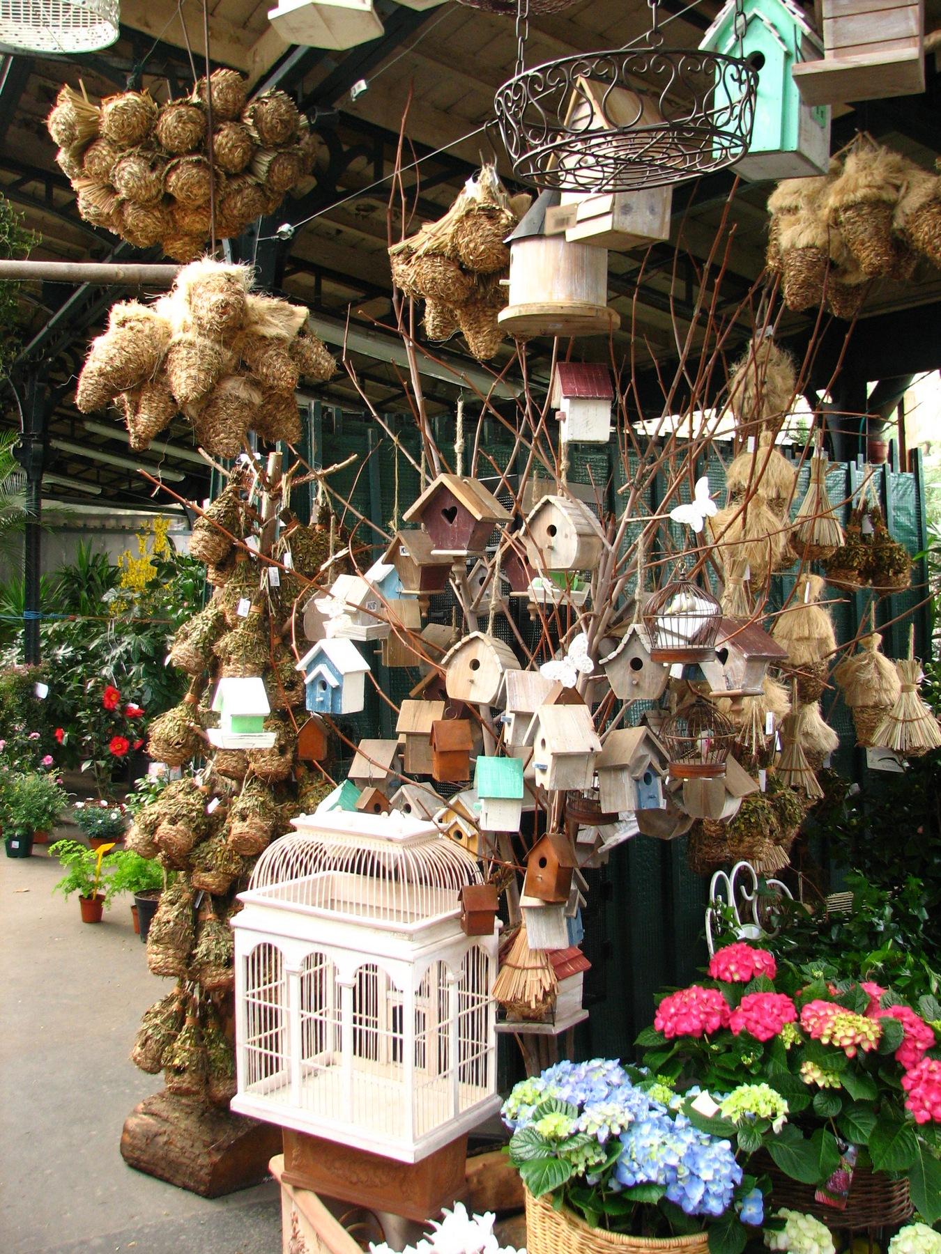 Vogelhäuschen auf dem Blumenmarkt