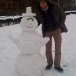 Andi und der Schneemann.