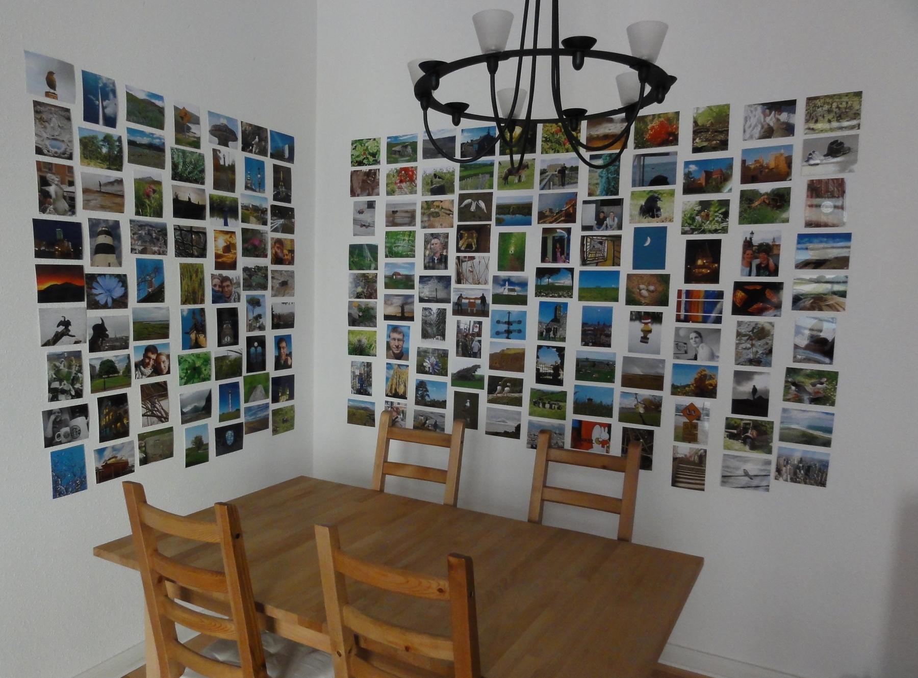 kaddi und das leben in der draussenwelt bilderwand. Black Bedroom Furniture Sets. Home Design Ideas