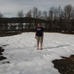 Kaddi im Schnee