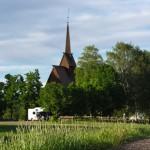 Rollewagen und Stabkirche